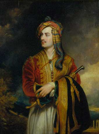 Byron-in-Albanian-Costume