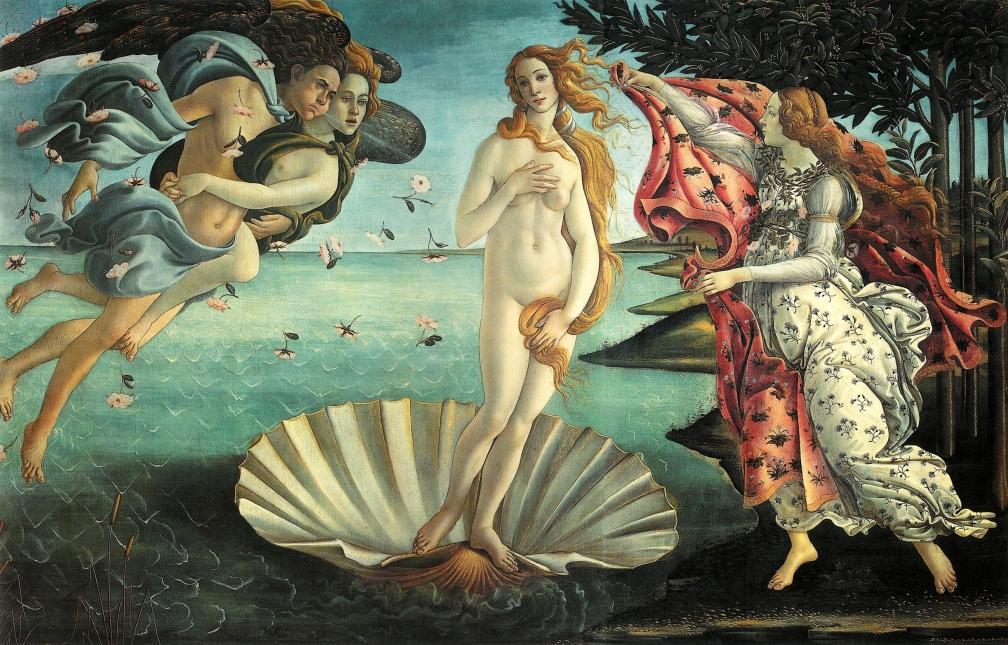 El nacimiento de Venus,  de Botticelli