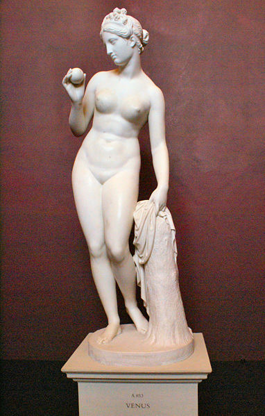 Afrodita con la manzana de la discordia