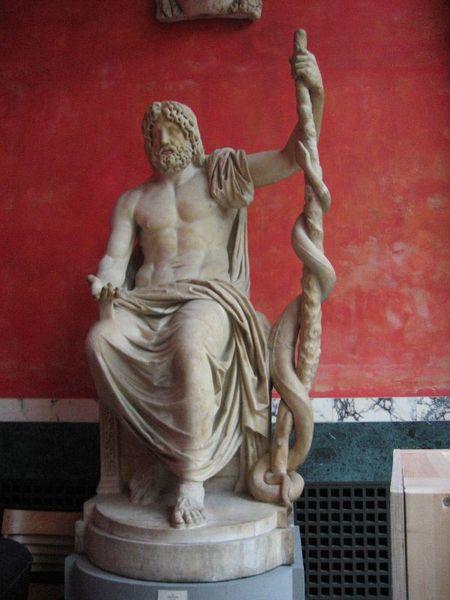 Asclepio, hijo de Apolo y dios de la medicina