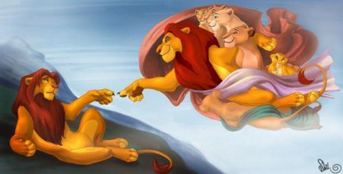 La creación del Rey León, Las creaciones vienen y van, imitando a Miguel Ángel #culturaquemadura