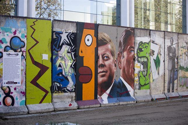 Sección del muro en Los Ángeles
