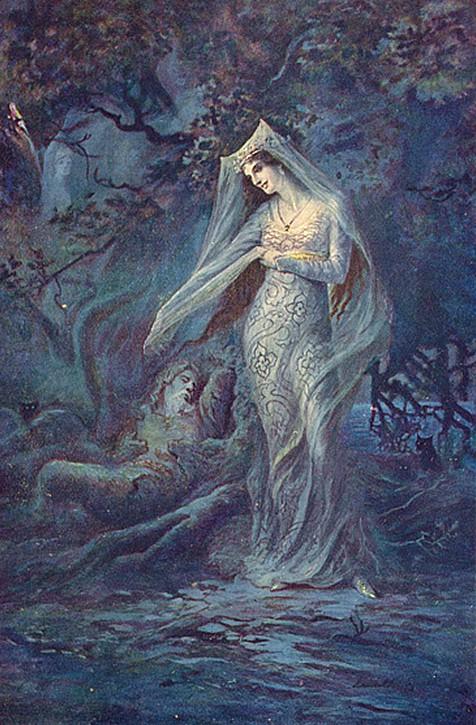 Merlín y Vivien (1912), de Speed Lancelot