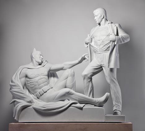 Modern Heroes, de Mauro Perucchetti, Las creaciones vienen y van, imitando a Miguel Ángel #culturaquemadura