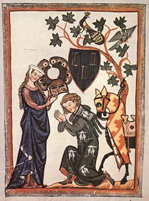 Miniatura del Percival de Chrétien de Troyes