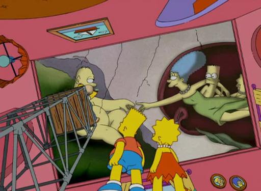 La creación de Homero y Marge Simpson, Las creaciones vienen y van, imitando a Miguel Ángel #culturaquemadura