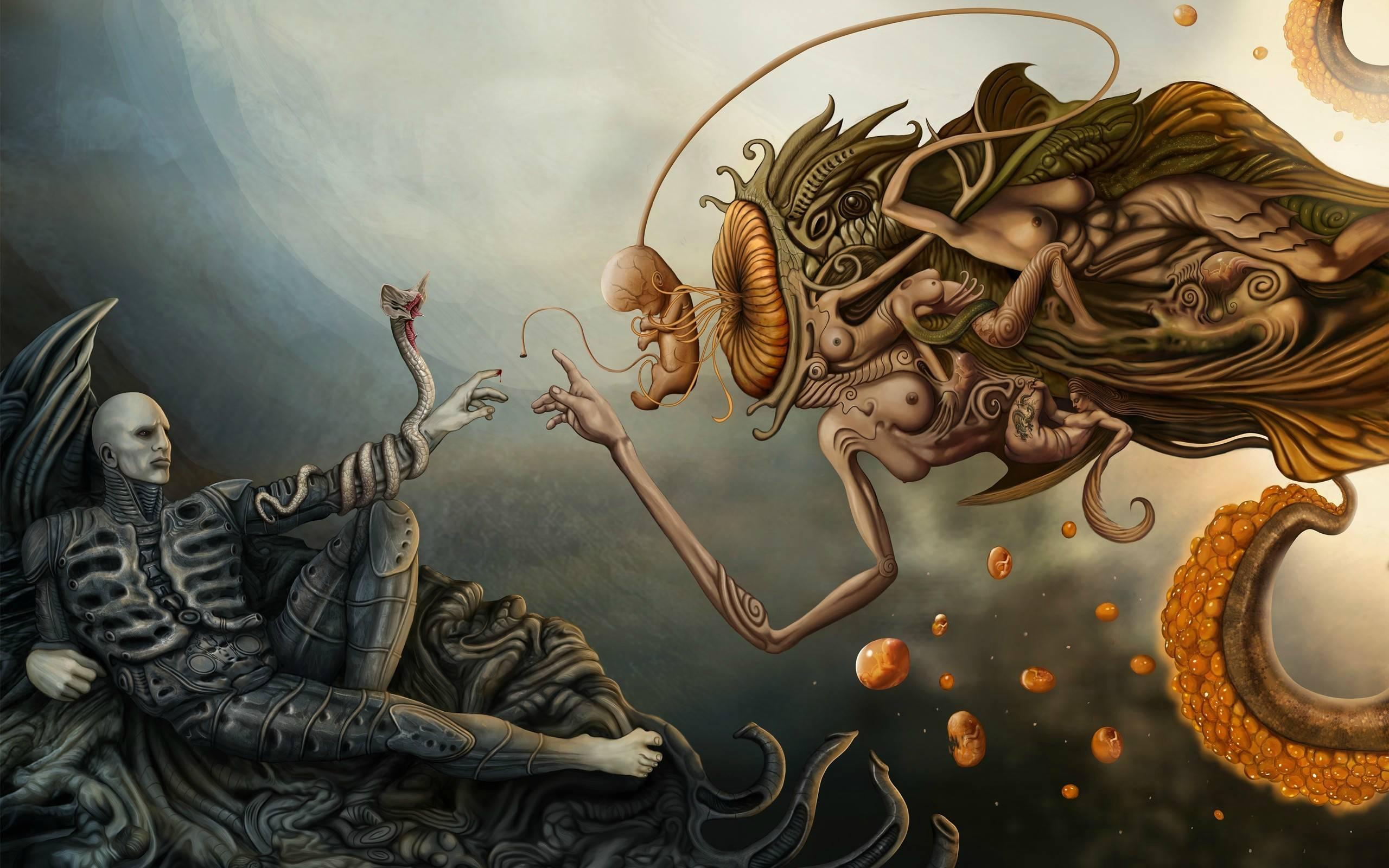 La creación de Alien, Las creaciones vienen y van, imitando a Miguel Ángel #culturaquemadura