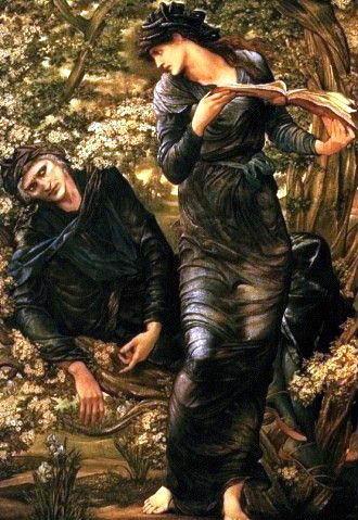 La seducción de Merlín (1877) de  Edward Burne-Jones