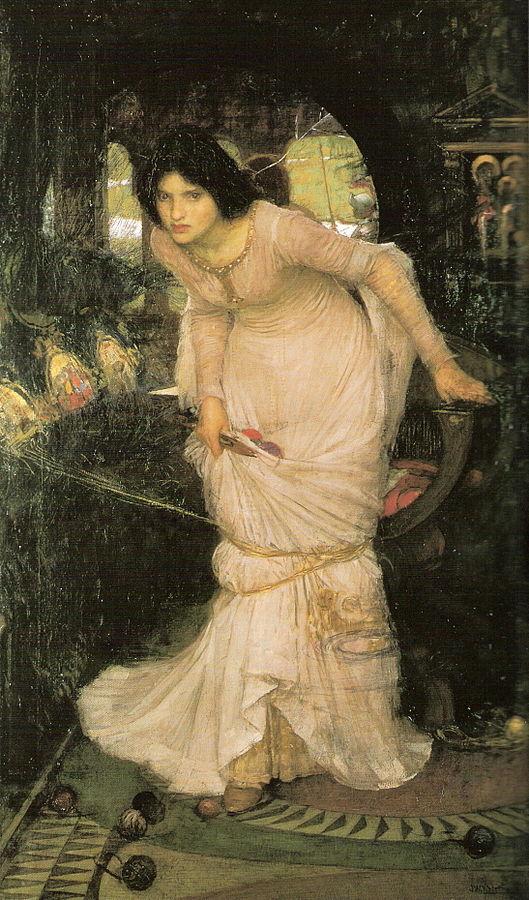 La dama de Shalott observa a Lancelot 18