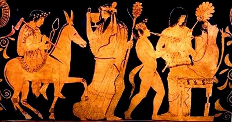 Hera aprisionada por el trono de Hefesto