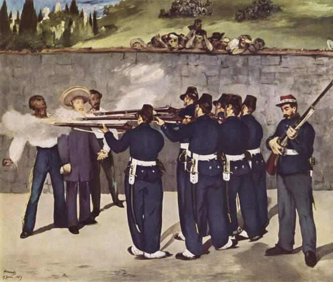 Fusilamiento de Maximiliano de Habsburgo por Edouard Manet 7 frases grandes frases en el lecho de muerte #culturaquemadura