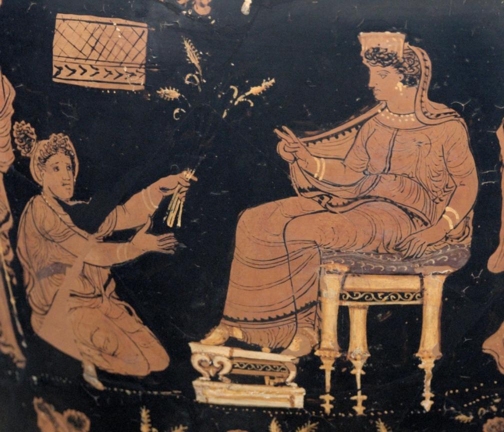 Bendición de Deméter como parte de los mitos eleusinos