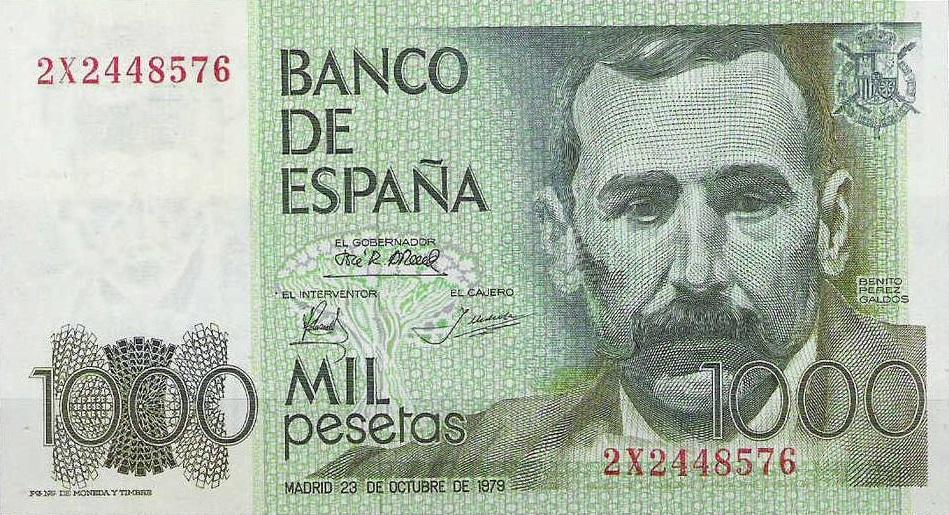 Benito Pérez Galdos 1000 pesetas 10 escritores en billetes #culturaquemadura