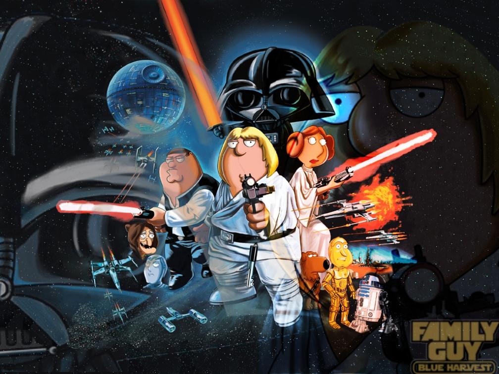 Family Guy Blue Harvest Star Wars: de alguna forma aquí, en el futuro #culturaquemadura #MayThe4thBeWithYou