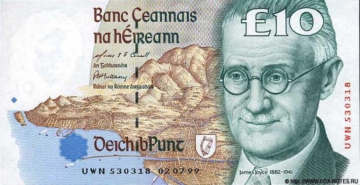 James Joyce 10 libras irlandesas 10 escritores en billetes #culturaquemadura