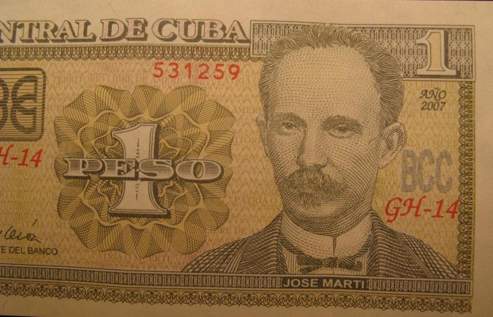 José Martí 1 peso cubano 10 escritores en billetes #culturaquemadura