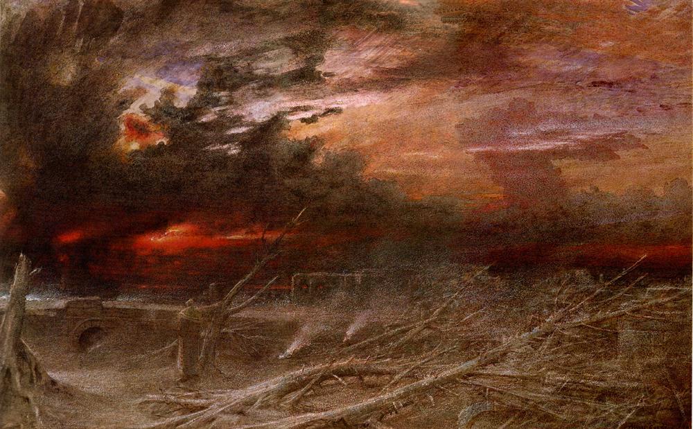 Apocalipsis (Albert Goodwin, 1903) 6 estupendas novelas distópicas (que no son ni de Orwell ni de Bradbury) #culturaquemadura