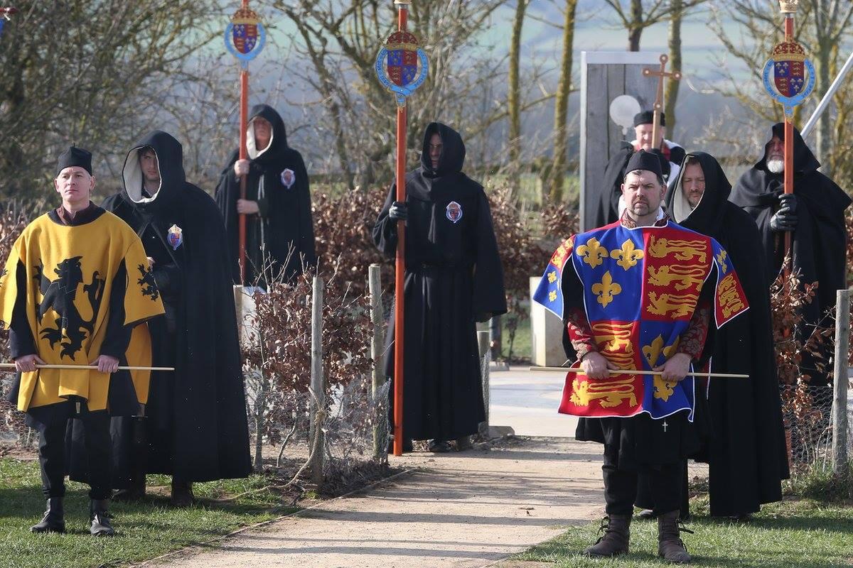 Procesión previa al entierro de Richard III en Leicester, Inglaterra (marzo, 2015)