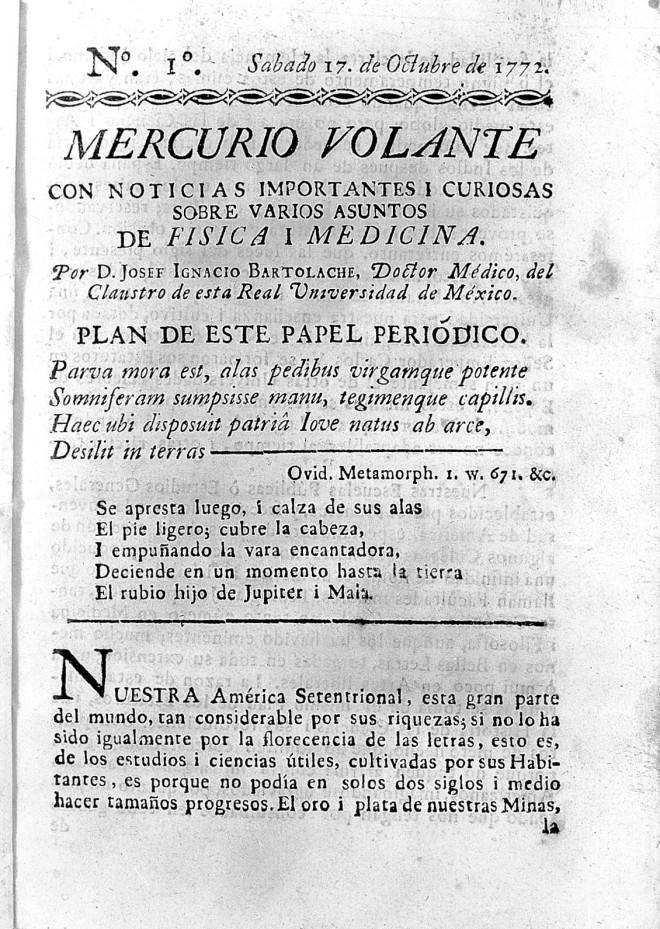 Mercurio volante, 1772-1773, Wellcome Library, Londres. Historias urbanas: La Colonia del Valle #culturaquemadura