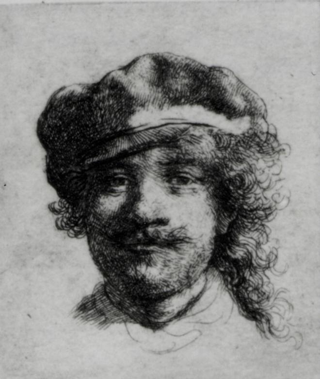 Boceto de autorretrato, Rembrandt, (1634)