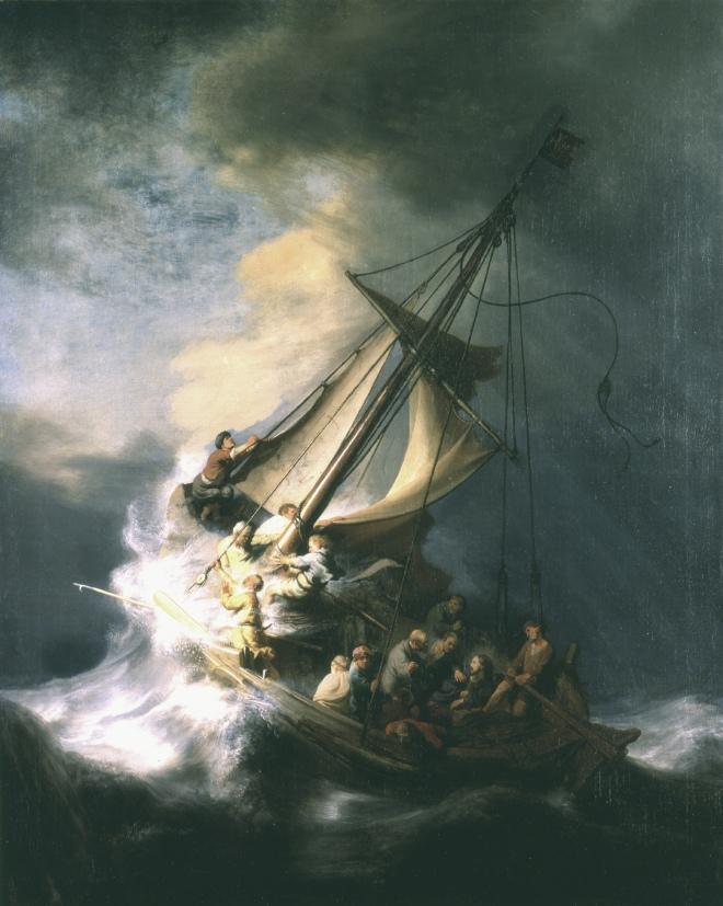 La tormenta en el mar de Galilea, Rembrandt, (1633)