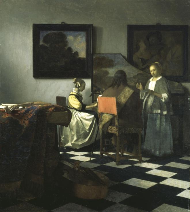 El concierto, Vermeer, (1658-60)