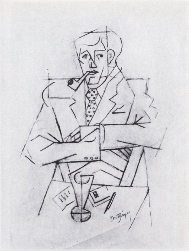 Boceto de un retrata de Guillaume Apollinaire, Jean Metzinger (1911)