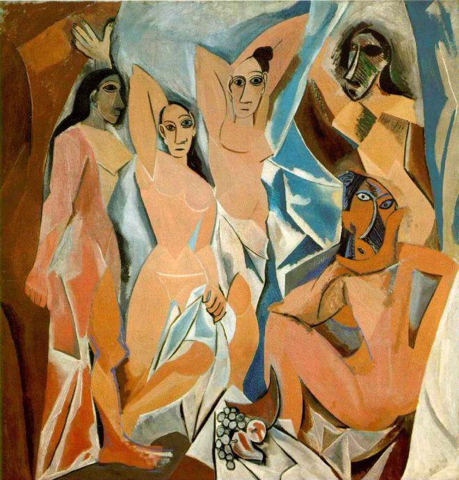 Las señoritas de Avignon, Picasso (1907)