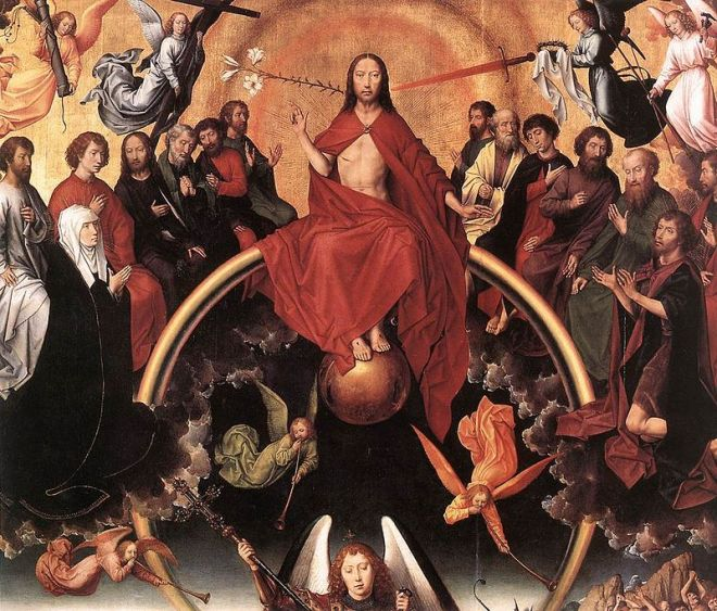 Detalle del panel central de El Juicio Final de Hans Memling
