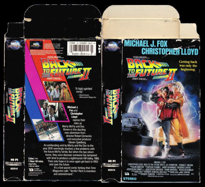 Caja de VHS original de Volver al Futuro II