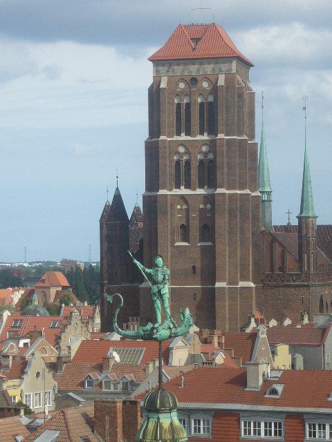 Vista de la Catedral de Santa María de Gdánsk en la actualidad