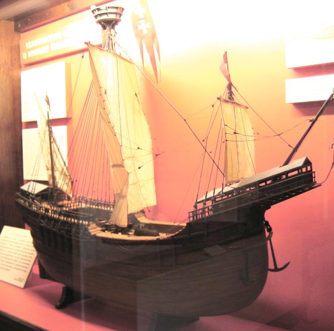 Reproducción a escala de Piotr von Danzig (Pedro de Gdansk), barco del capitán Paweł Beneke